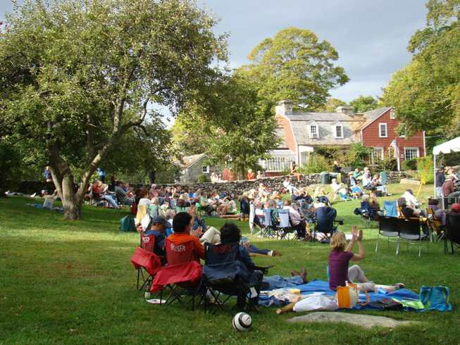 Jazz in the Garden with view of Weir Farm NHS Visitor Center