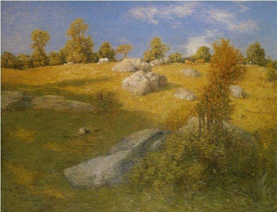 Upland Pasture, Julian Alden Weir, c1905, oil on canvas, Smithsonian American Art Museum