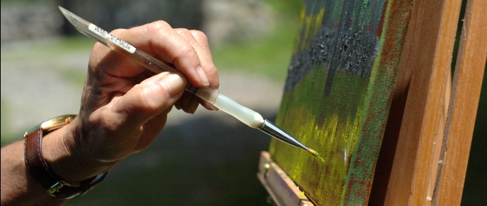 An Artist Painting at Weir Farm National Historic Site