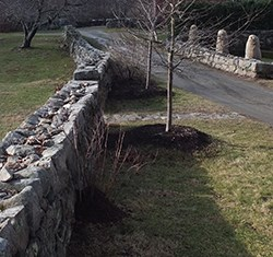 Stone Walls near the Burlingham House Visitor Center.