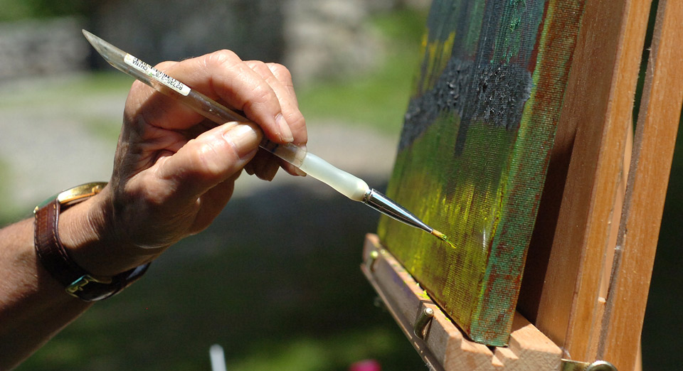 close up of artist paint