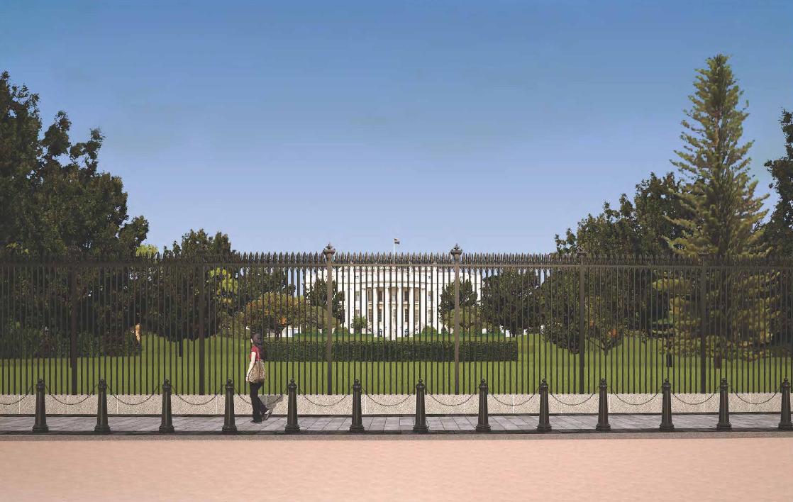White House Fence Construction - President's Park (White House) (U.S. National Park Service)