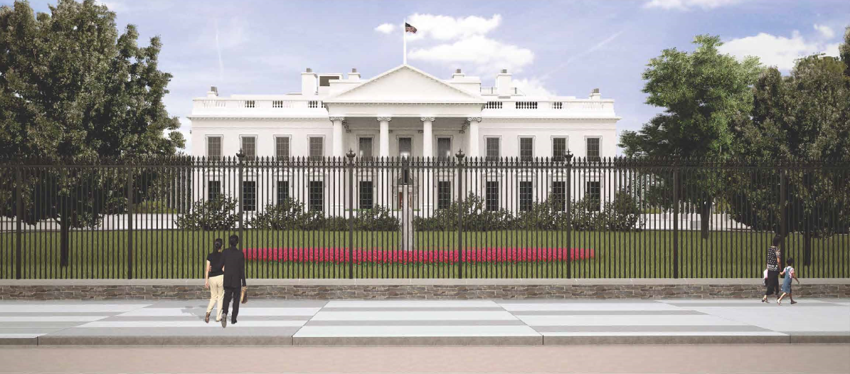 Rendering of the new White House fence from Pennsylvania Avenue (NPS image)