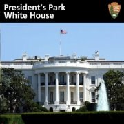 We're on Facebook! Facebook badge for President's Park showing the south facade of the White House.