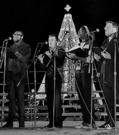 Singers in front of the National Christmas Tree