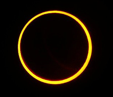 annular eclipse at Whiskeytown