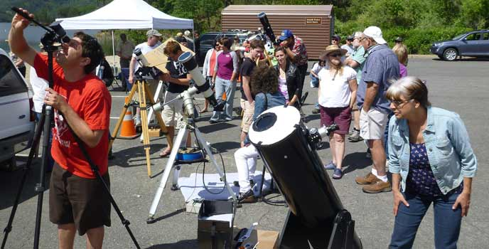 Visitors at Transit of Venus 2012