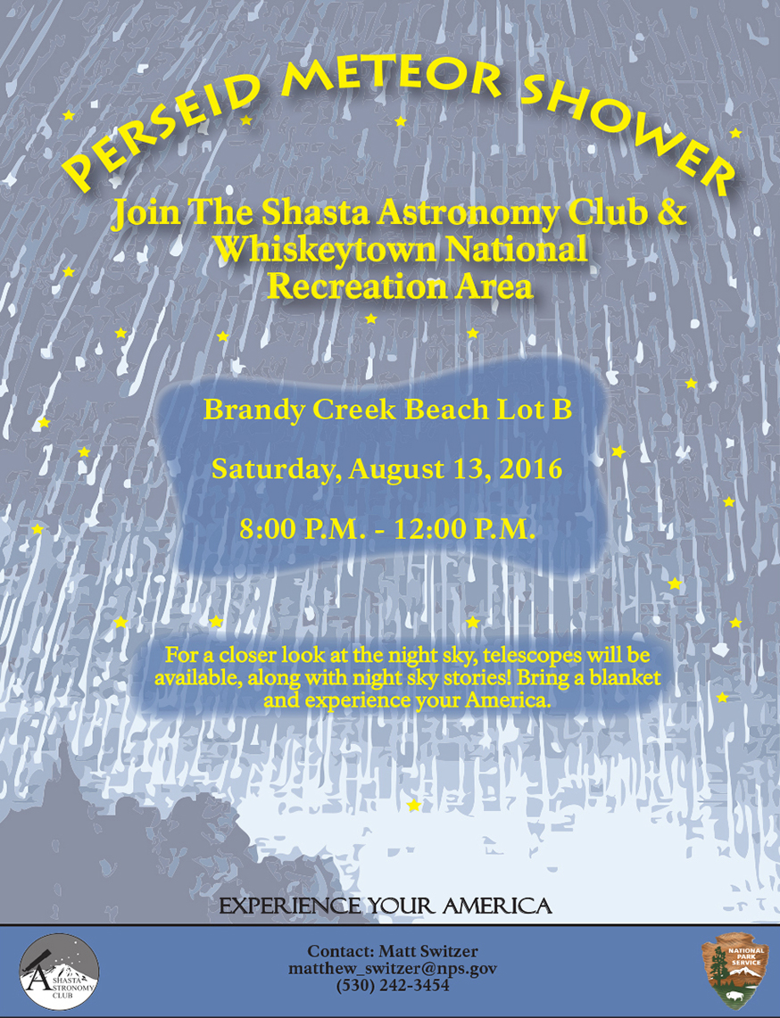 2016 Perseid Meteor Shower Event flyer