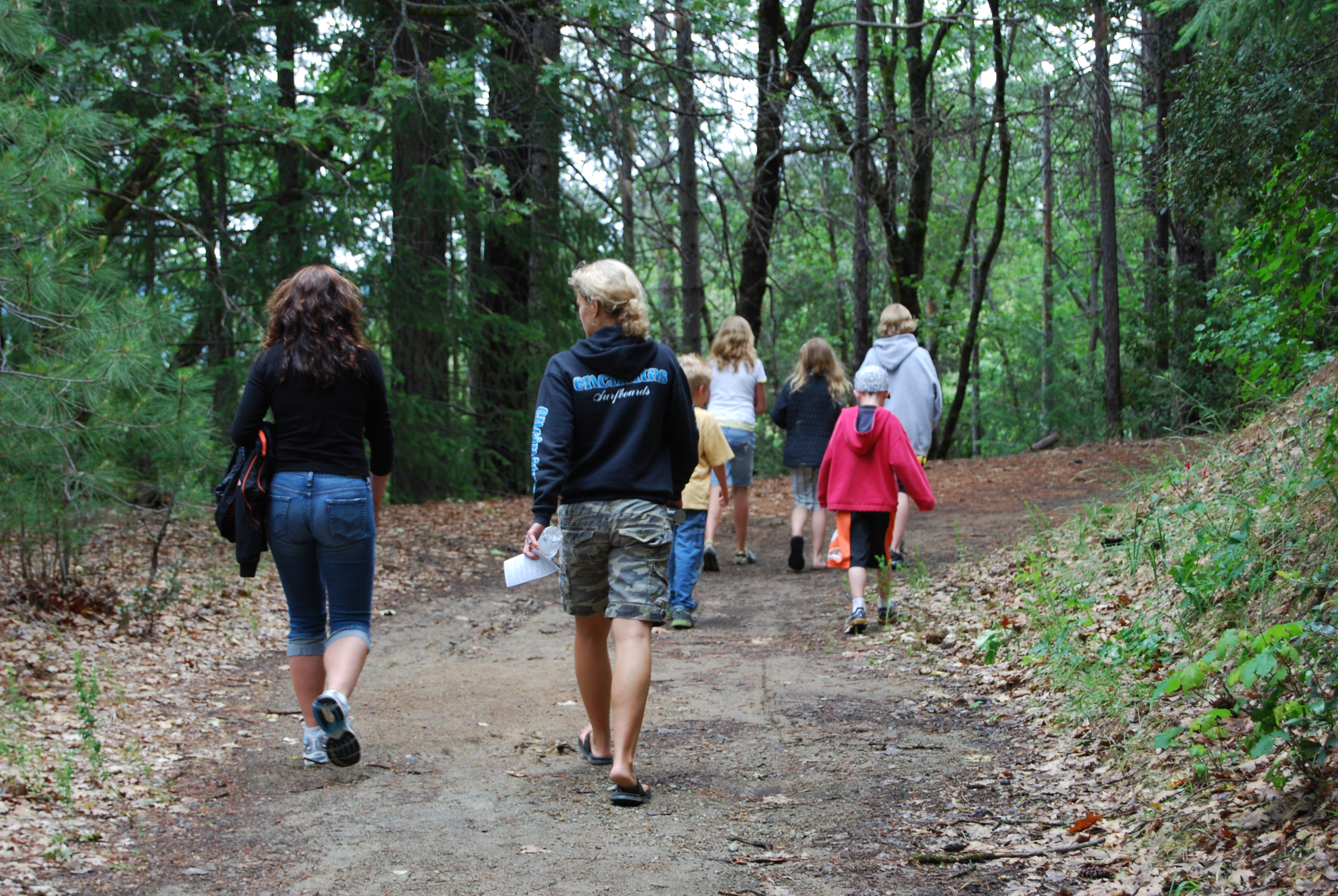 Hikers enjoying the trail to Boulder Creek Falls