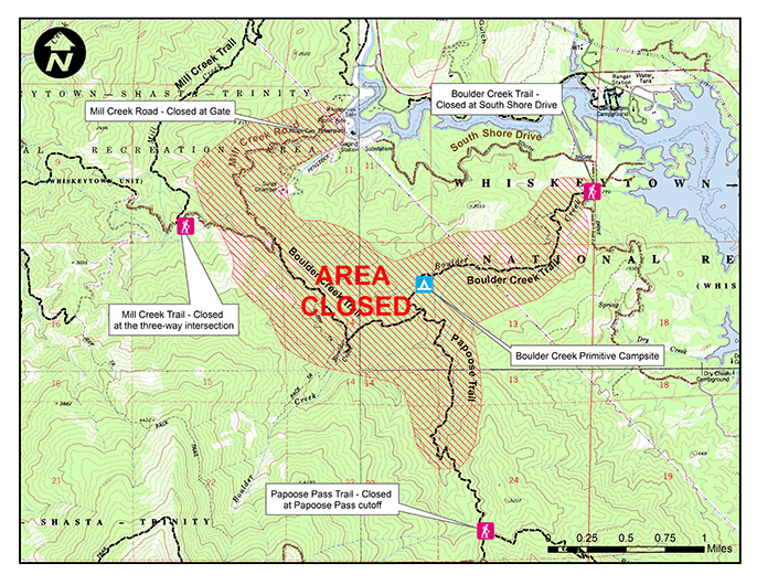 WHISKEYTOWN ANNOUNCES TEMPORARY CAMPSITE ROAD AND TRAIL CLOSURES