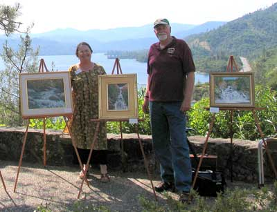 Artists Diana Troxell & Bruce Davidson displaying artwork at Visitor Center