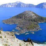 Wizard Island and Crater Lake at Crater Lake National Park