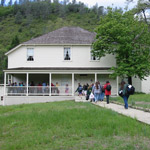 Visitors on a tour of the historic home of Charles Camden.