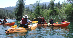Kayak tour on Whiskeytown Lake.