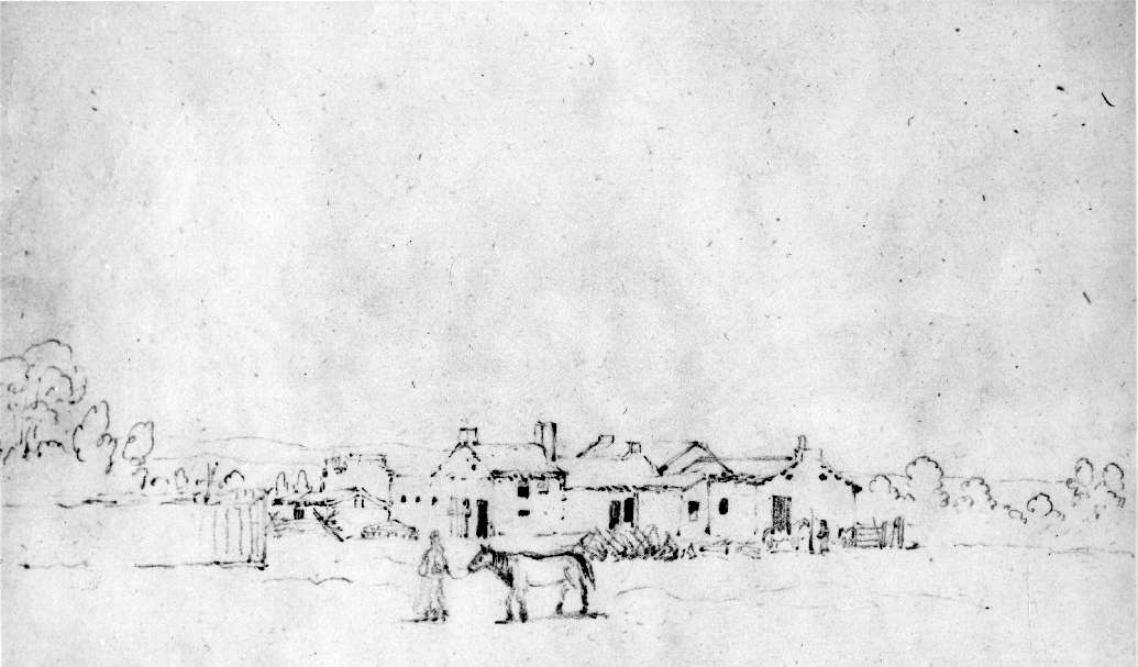 Mission sketch by Paul Kane 1847