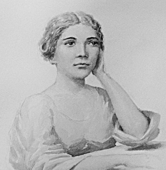 Watercolor image of Narcissa Prentiss Whitman