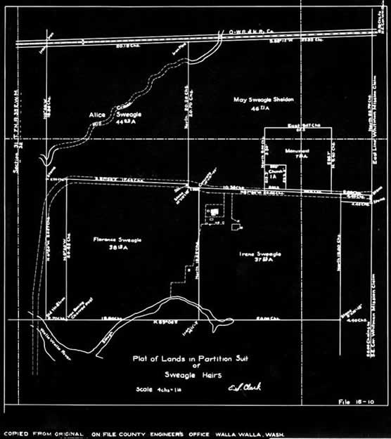 map of swegle land donation
