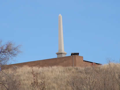 obelisk on top of hill