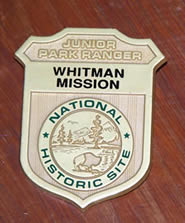 Whitman Mission Junior Ranger Badge