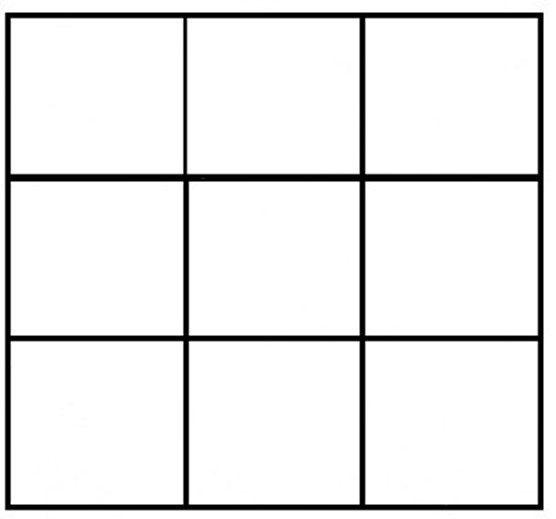 3 by 3 grid for use in designing a quilt block
