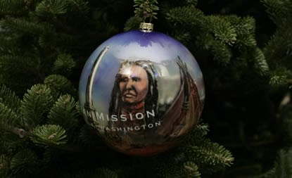 Whitman Ornament On White House Christmas Tree Whitman Mission National Historic Site U S National Park Service