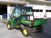 A two person utility vehicle with