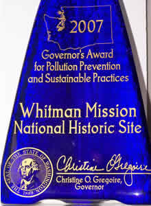 Governor's Award for Pollution Prevention and Sustainable Practices from Washington State, 2007