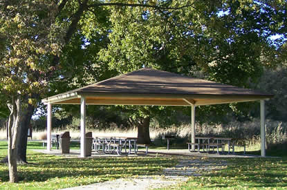 View of picnic area.