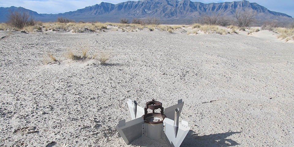 Missile debris in White Sands
