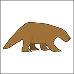 drawing of a Ground Sloth