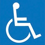 Wheelchair handicap symbol