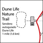 Map of Dune Life Nature Trail.