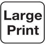 Black and white large print icon