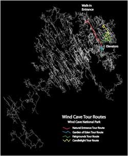 Wind Cave Tour Routes