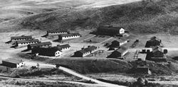 Historic black and white photograph of CCC Camp NP-1
