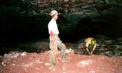 Two cavers inside Deep Confusion