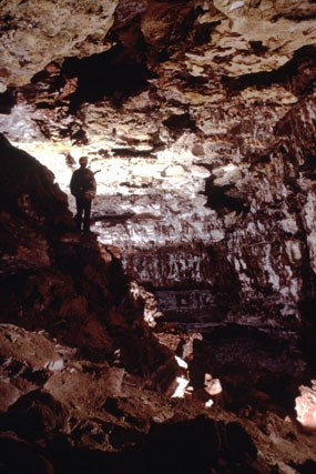 Caver in Half-Mile Hall