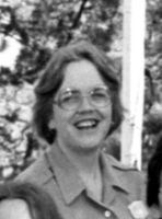 Black and white photograph of Kay Rohde