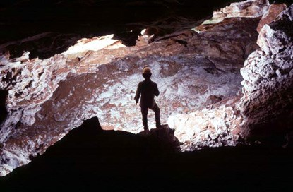 Caver inside the Yukon Trail