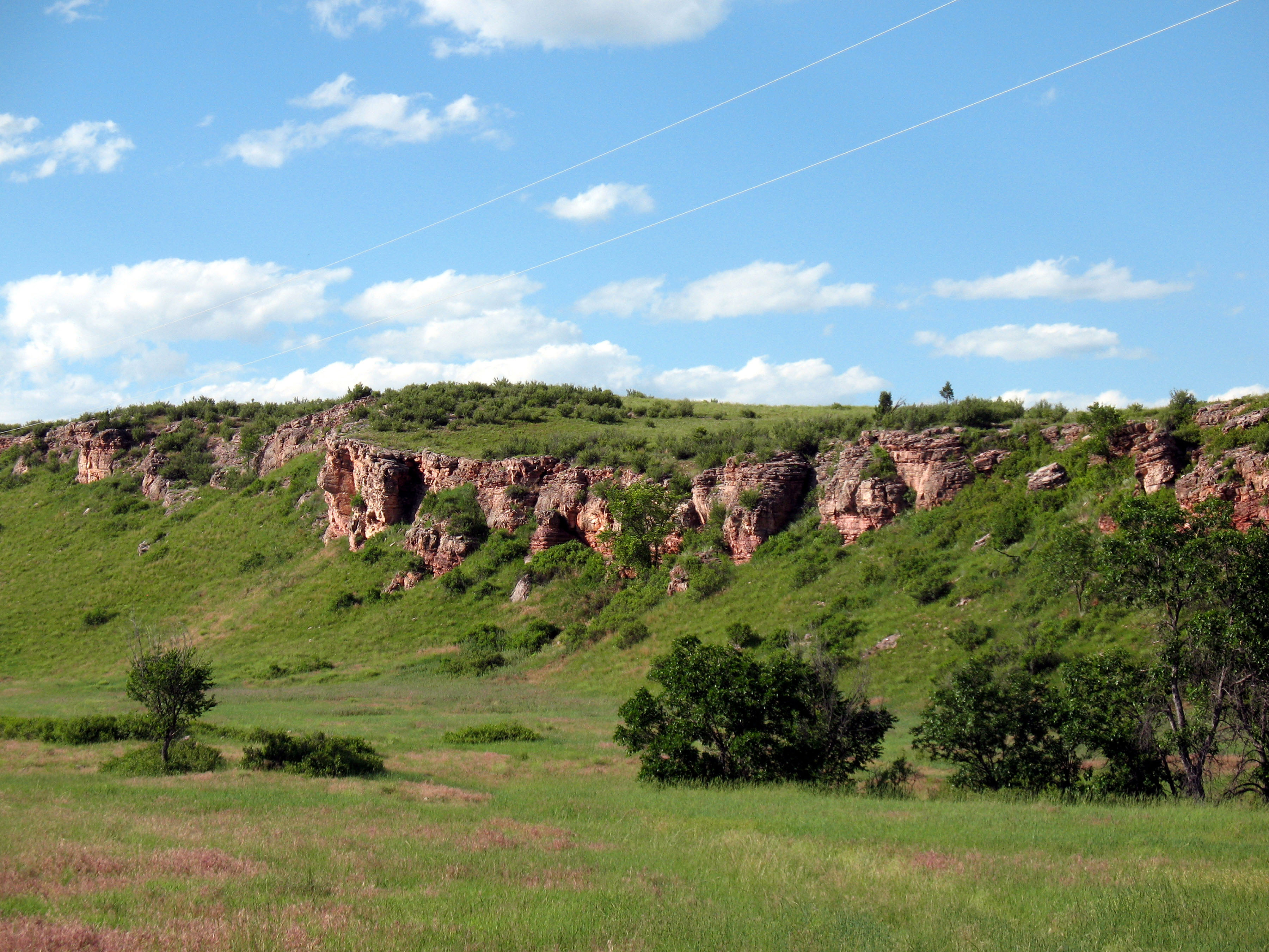 Casey Land Looking at Buffalo Jump