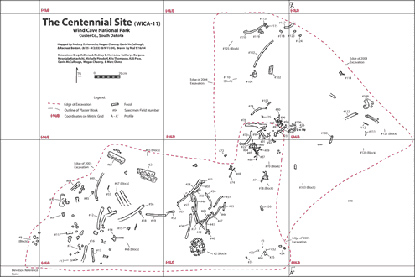 Centennial Paleontology Site Map
