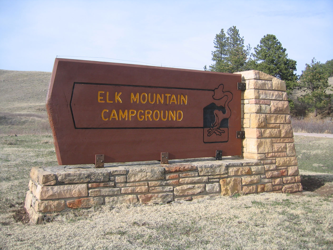 Elk Mountain Campground sign