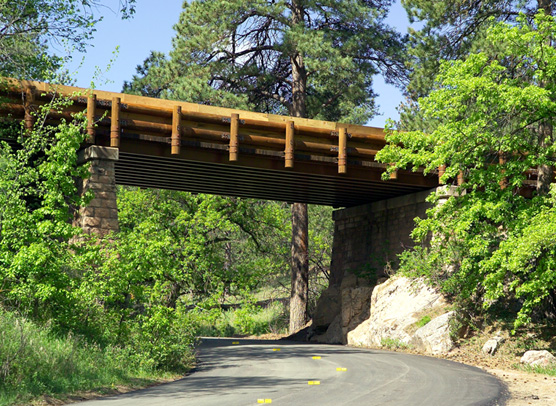 The new upgraded Pigtail Bridge in Wind Cave National Park.