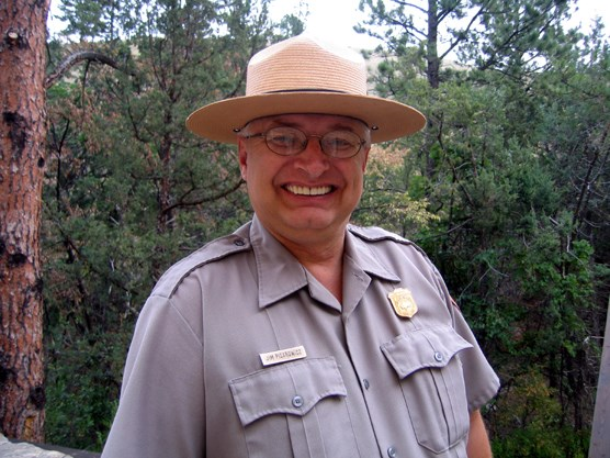 Ranger Jim Pisarowicz, who first explored and documented Mexico's Cave of the Lighted House in 1986.