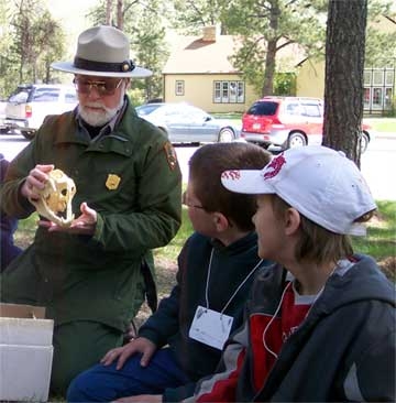 Ranger with Environmental Education Group