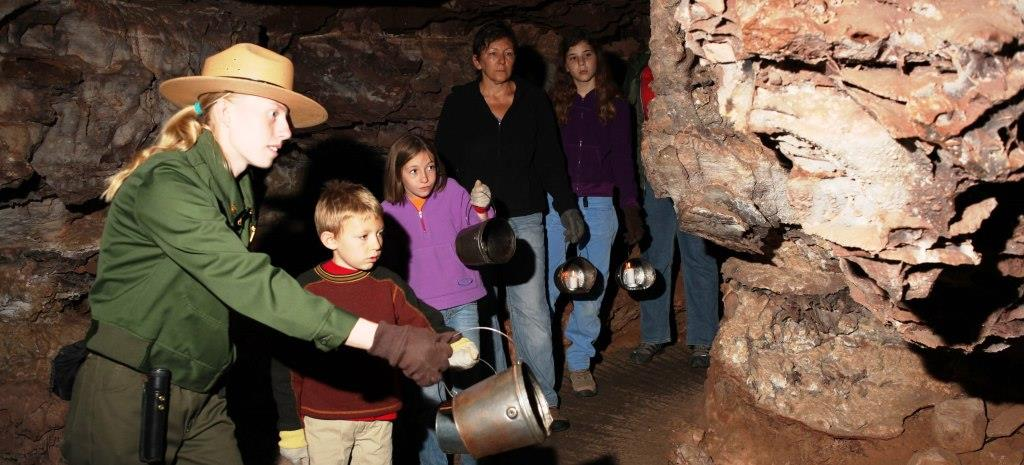 ranger-led candlelight tour with family