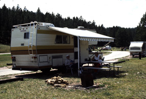 Camper Trailer at the Elk Mountain Campground