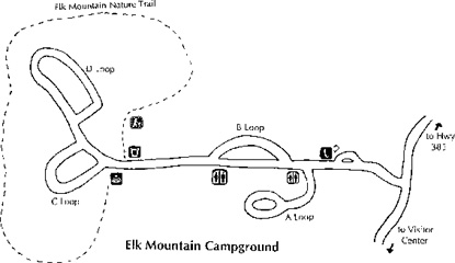 Elk Mountain Campground Map