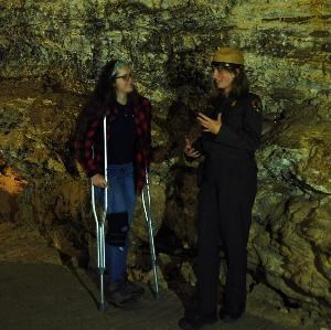An accessibility tour in Wind Cave