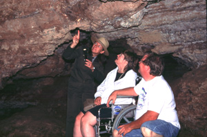 Special Cave Tour for visitors with limited mobility.